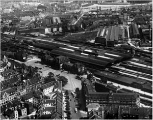 Urban district Oberbilk / Main Station 1934: Deconstruction of the industry in the inner city, construction of new residential space after WWII