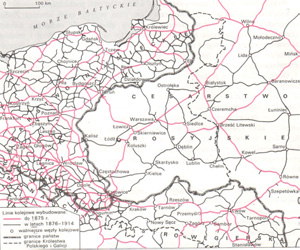 The railway network development in the Polish lands in the nineteenth century