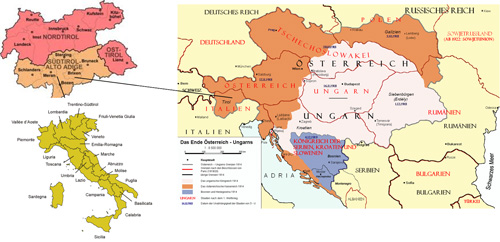 The separation of Tyrol and territorial incorporation of South Tyrol into Italy
