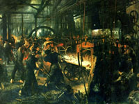 Iron mill by Adolph Menzel